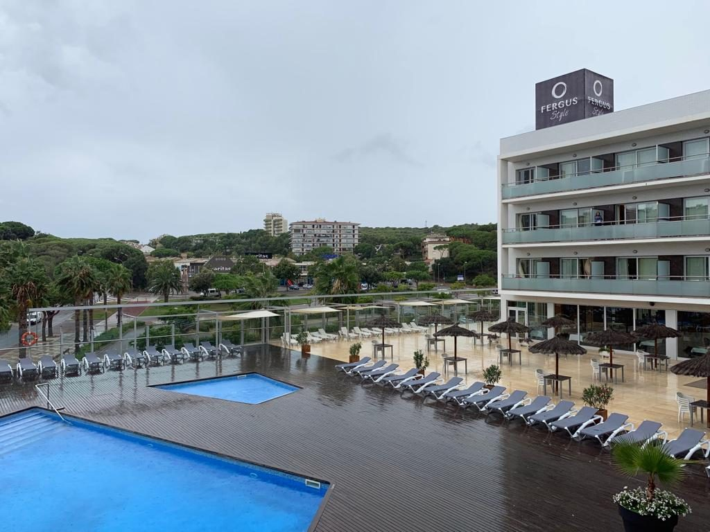 Uitzicht vanuit onze hotelkamer