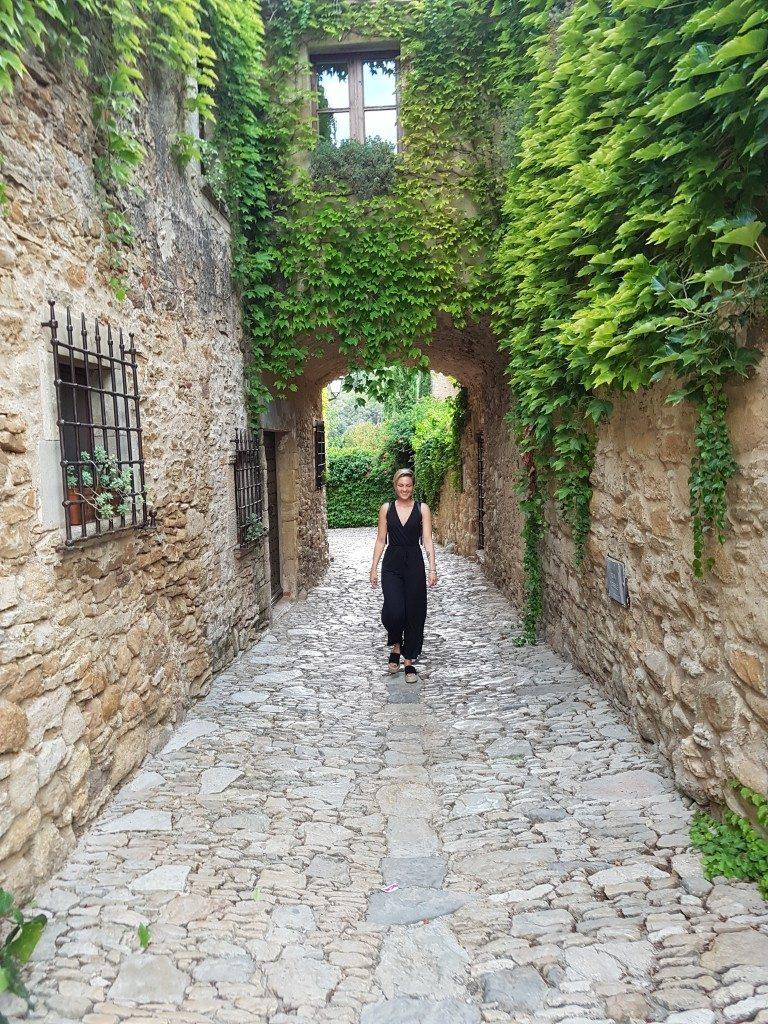 Het middeleeuws dorpje Peratellada aan de Costa Brav