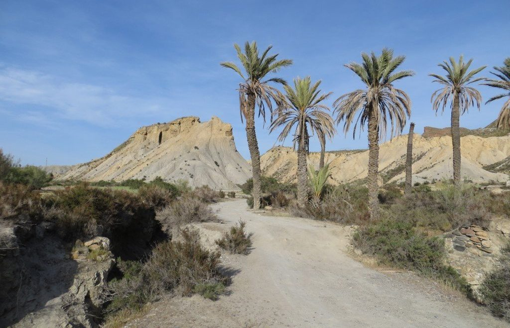 De Tabernas woestijn in Spanje